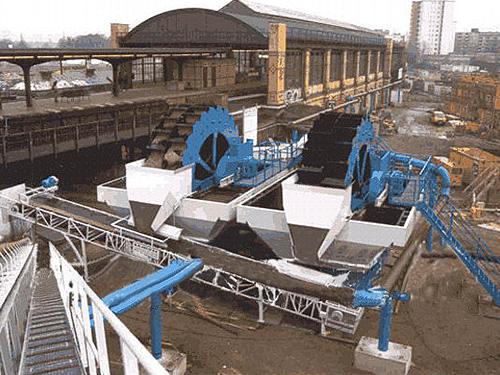 洗砂生产现场